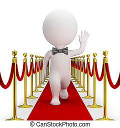 3d small people - red carpet