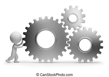 3d small people - rolls gears - 3d small people rolls gears....