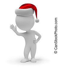 3d small people - Santa Claus
