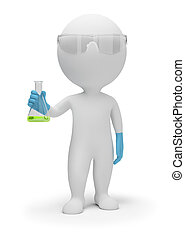 3d small people - scientist - 3d small people the scientist...