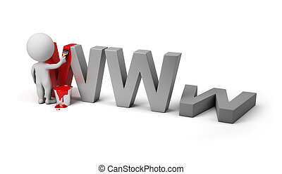 3d small people - site under construction - 3d small person...