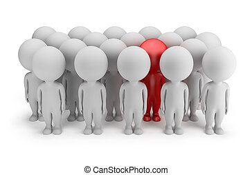 3d small people - stands out - 3d small person - stands out...