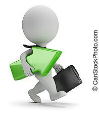 3d small people - successful businessman