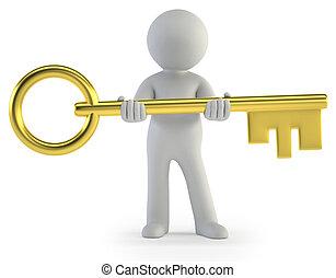 3d small people - take a key