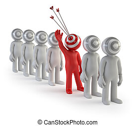 3d small people - target audience