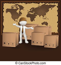3d small people worldwide delivery