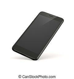 3d smart phone on white background