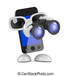 3d Smartphone binoculars