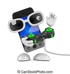 3d Smartphone gamer