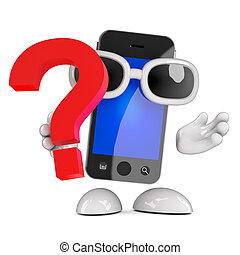 3d Smartphone question mark