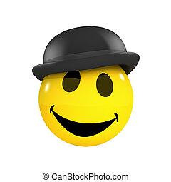 3d Smiley businessman