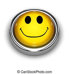 3d Smiley button