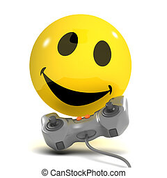 3d Smiley gamer