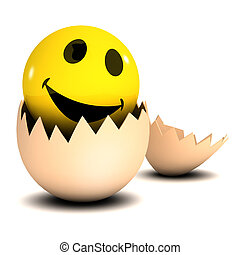 3d Smiley hatches