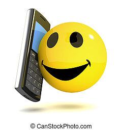 3d Smiley mobile