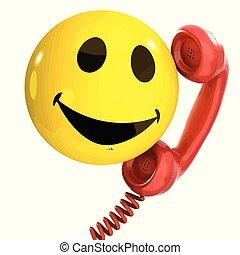 3d Smiley phone