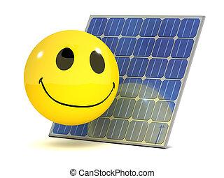 3d Smiley solar panel
