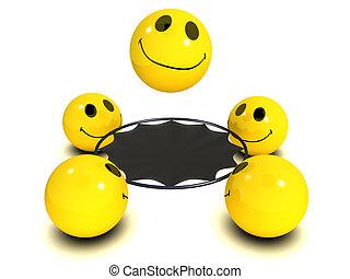 3d Smiley trampoline