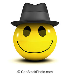 3d Smiley trilby