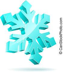 3d, snowflake