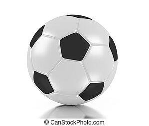 3d soccer ball. 3d football.
