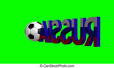3D Soccer Championship in Russia 2018 - 3D animation/ 3D...