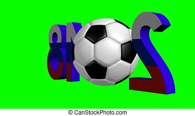 3D Soccer Championship in Russia 2018 concept - 3D...