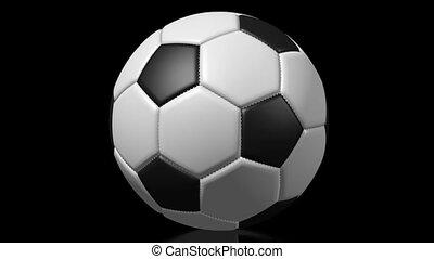 3D soccer/ football ball on black background