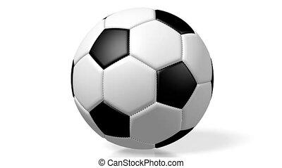 3D soccer/ football ball on white background