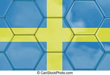 3D - Soccer texture - Sweden