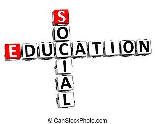 3D Social Education Crossword