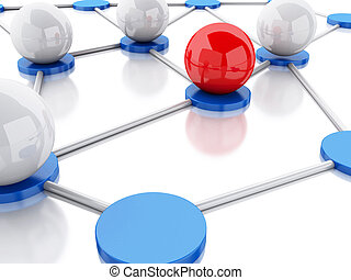 3d social network and communication.