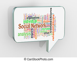 3d social network bubble speech
