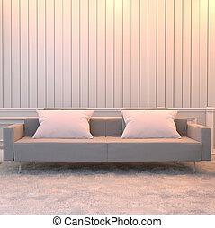 3d, sofa., interpretazione