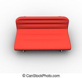 3d sofa on white background