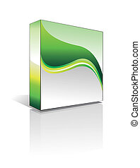 Three Dimentional Business Software Box - Environment Green Series