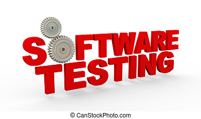 3d software testing cogwheel gears