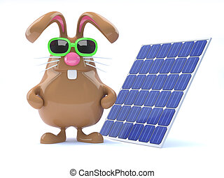 3d Solar bunny