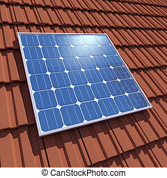 3d Solar cell panel