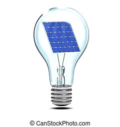 3d Solar light bulb