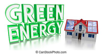 3D solar panels/ green energy concept