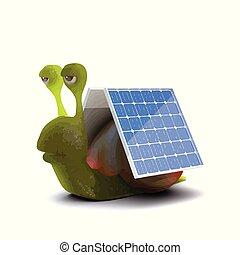 3d Solar powered snail