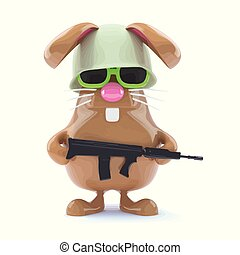 3d Soldier bunny