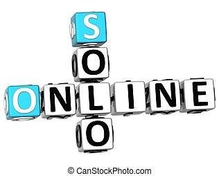 3D Solo Online Crossword