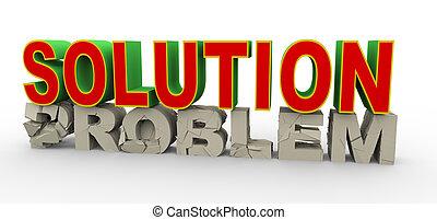 3d, solução, para, problema