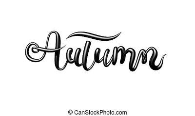 3d, sombre, automne, coup, blanc, alors, looping., former, dehors, animation, channel., alpha, palîr, informatique, arrière-plan., mot
