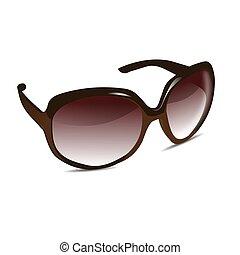 3d, sonne brille