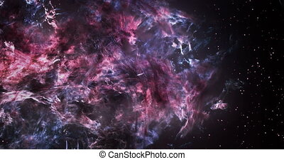 3D Space Flight Around Massive Gargantuan Nebula