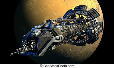 3D Space Shuttle Illustration - 3d rendering of a spaceship...