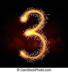 3d sparkler firework number 3